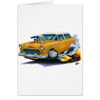 Chevy Nomade-Orangen-Auto 1955 Karte