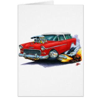 Chevy Nomade-Rot-Auto 1955 Karte