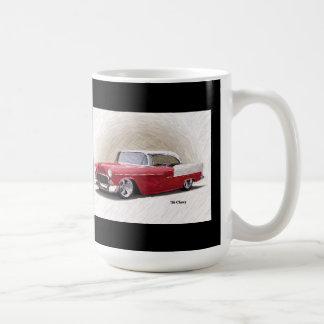 Chevy rote weiße Digital Kunst-Tasse 1956 Kaffeetasse