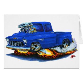 Chevy Stepside Lieferwagen-Blau-LKW 1955 Karte