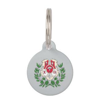 Chi-Omega-Wappen Tiernamensmarke