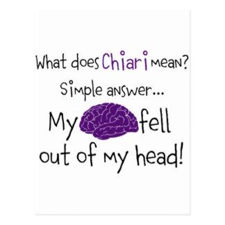 Chiari - mein Gehirn fiel heraus Postkarte