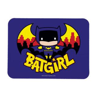 Chibi Batgirl mit Gotham Skylinen u. Logo Magnet