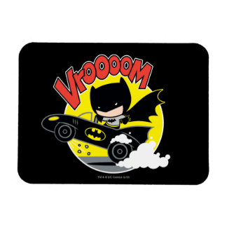 Chibi Batman im Batmobile Vinyl Magnete