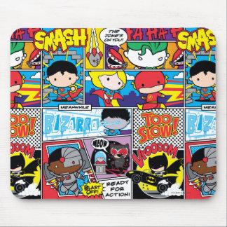 Chibi Gerechtigkeits-Liga-Comic-Buch-Muster Mousepad