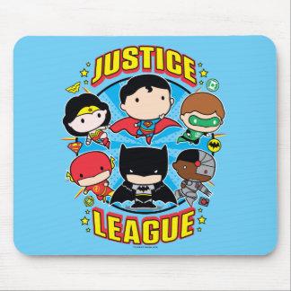 Chibi Gerechtigkeits-Liga-Gruppe Mousepads
