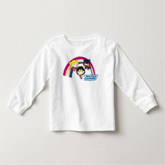 Chibi Gerechtigkeits-Liga-Regenbogen Kleinkind T-shirt