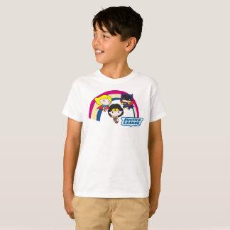 Chibi Gerechtigkeits-Liga-Regenbogen T-Shirt