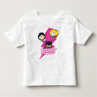 Chibi Gerechtigkeits-Liga-Rosa-Blitz Kleinkind T-shirt