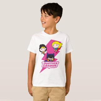 Chibi Gerechtigkeits-Liga-Rosa-Blitz T-Shirt