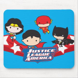 Chibi Gerechtigkeits-Liga von Amerika-Sternen Mousepad