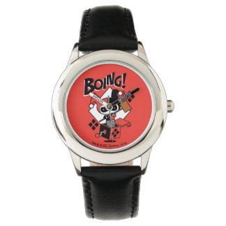 Chibi Harley-Quinn-In-EIN-Box mit Hammer Uhr