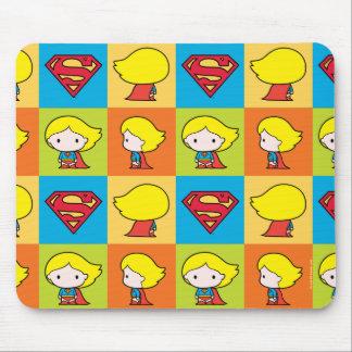 Chibi Supergirl Charakter-Rücklauf Mousepads