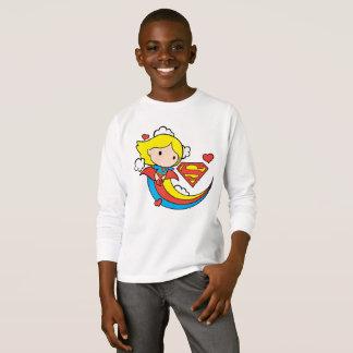 Chibi Supergirl Fliegen-Regenbogen T-Shirt