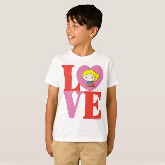 Chibi Supergirl LIEBE T-Shirt