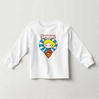 Chibi Supergirl Sternexplosion-Herz und Logo Kleinkind T-shirt