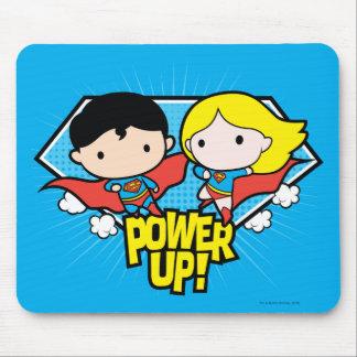 Chibi Supermann u. Chibi Supergirl Power oben! Mauspad
