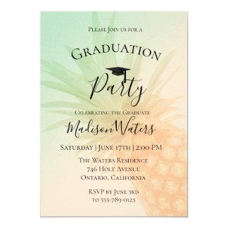 Chic-Ananas-Abschluss-Party Einladung