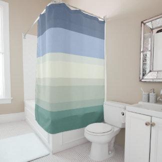 Chic blau und aquamarines Grün Striped Duschvorhang
