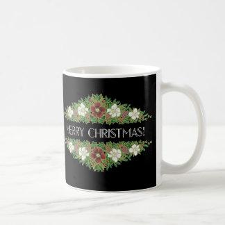 Chic-BlumenweihnachtsRosen, Hellebores, Kaffeetasse