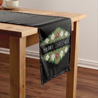 Chic-BlumenweihnachtsRosen, Hellebores, Kurzer Tischläufer