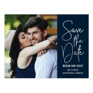 Chic, der Save the Date EDITABLE FARBEpostkarte Postkarte