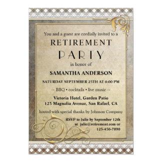 Chic Gatsby GRILLEN Ruhestands-Party Einladung
