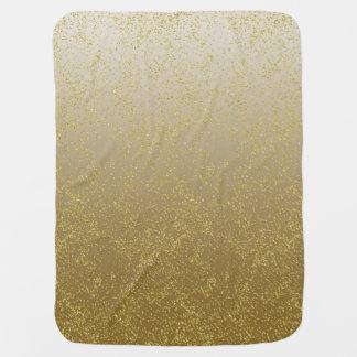Chic-Goldconfetti-Glitzern Babydecke