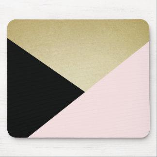 Chic-Goldschwarz-Rosa-abstrakte Mauspads
