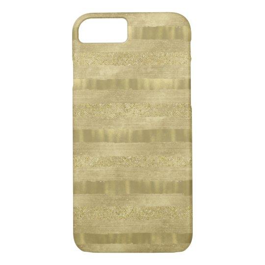 Chic-hübsche Goldstreifen iPhone 7 Hülle