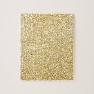 Chic-Imitat-GoldGlitzer-Luxus-Puzzlespiel