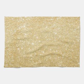 Chic-Imitat-GoldGlitzer-Luxusküchen-Tuch Geschirrtuch