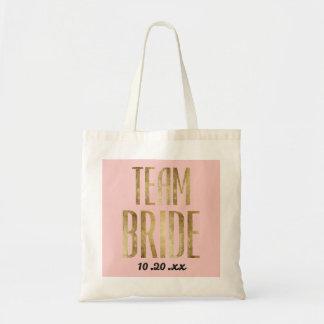 Chic-Imitat-Goldteam-Braut, die Bachelorette Tragetasche