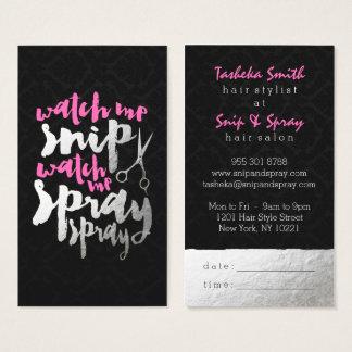 Chic-Imitat versilbert modernen rosa Visitenkarte