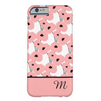 CHIC IPHONE 6 CASE_MOD 04 ERRÖTEN ROSA MOHNBLUMEN BARELY THERE iPhone 6 HÜLLE