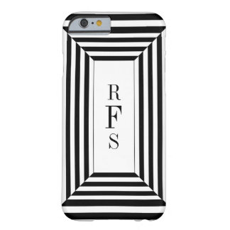CHIC_IPHONE CASE_BLACK STRIPES W/MONOGRAM BARELY THERE iPhone 6 HÜLLE