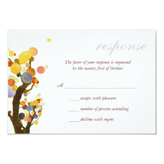 Chic-ländliche Baum-Hochzeit UAWG im Freien 8,9 X 12,7 Cm Einladungskarte