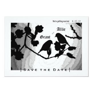 Chic-Liebe-Vogel-Silhouetten lädt Save the Date 12,7 X 17,8 Cm Einladungskarte
