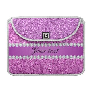 Chic-lila Imitat-Sequins und Diamanten MacBook Pro Sleeve