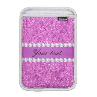 Chic-lila Imitat-Sequins und Diamanten Sleeve Für iPad Mini