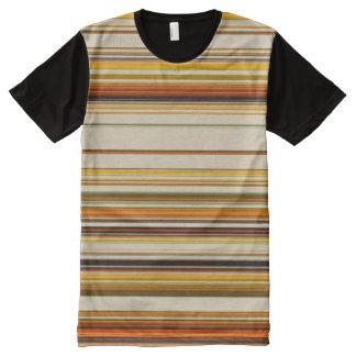 Chic Mehrfarben alle Überdruck Platten-T - Shirt