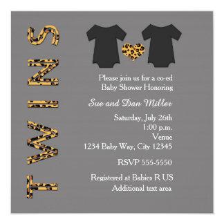 CHIC PAART Cheetah-Baby-Duschen-Party Einladung