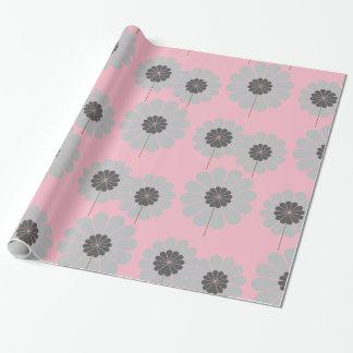 Chic-rosa gemustertes mit Blumenpapier Geschenkpapier