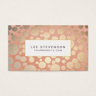 Chic-stilvolle Imitat-Goldfolien-Kreise u. Visitenkarten