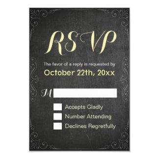 Chic-Tafel-Wedding Brautparty BLUMENUAWG 8,9 X 12,7 Cm Einladungskarte