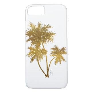 Chic-Trendy Goldpalme-Entwurf für Telefon-Hüllen iPhone 8/7 Hülle
