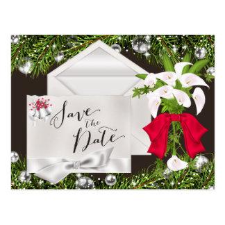 Chic-Weihnachten Save the Date Postkarte