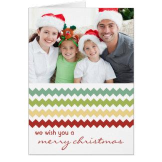 Chic-Zickzack Fiesta gefaltete Weihnachtskarte Karte