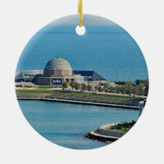 Chicago Adler Planetarium Rundes Keramik Ornament