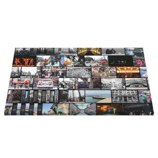 Chicago-Collage Leinwanddruck